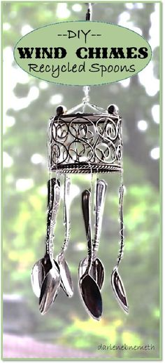 DIY Wind Chimes Recycled Spoons is featured in Bowdabra Feature Friday Favorite Five Cool Home Decor and Gift Items.: