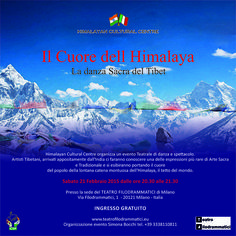 21 febbraio, Il cuore dell'Himalaya. La danza Sacra del Tibet, uno spettacolo organizzato dall'Himalayan Cultural Centre, Teatro Filodrammatici, Milano