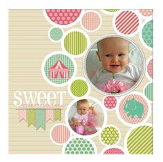 www.heritagemakers.com/4everphotos A sweet 12 x 12 wrapped canvas. #DIY with Heritage Makers template 106195. #digiscrap