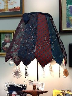 Men's tie lamp shade. One of two in my office
