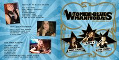 Front cover of the Women In Blues CD. Hillbilly, My Works, Over The Years, Blues, Sketches, Drawings, Cover, Artwork, Movie Posters