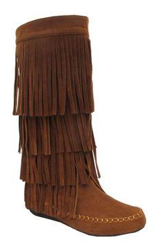 Fall Fringe Boots via catchbliss.com