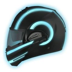 Matte Black/Luminescent helmet, transforms from full face to 3/4 - look into when time for a new helmet