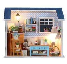 DIY Miniature Kits Dollhouse Miniature Handcraft Kit Birthday Gifts Kids Women Toy Assembly Dollhouse Model Kit Handmade Gift Dollhouse Kits
