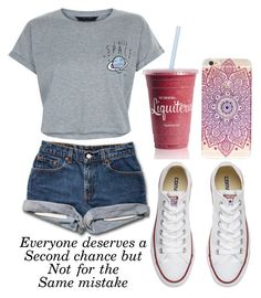 """""""Untitled #729"""" by maryanarivera ❤ liked on Polyvore featuring Converse and New Look"""