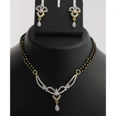 Gold Finish Mangalsutra Necklace Set