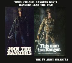 Gear may change, but not the quality of the man who wears it. Military Salute, Military Guns, Military Service, Military Art, Special Ops, Special Forces, Ranger School, Airborne Ranger, Military Motivation