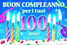 CDB CARTOLINE Compleanno per Tutti i Gusti! : Cartolina Buon Compleanno per i tuoi 90/100 Anni con Colorate Candeline Appoggiate su Panna Montata. Da Scaricare Gratis.