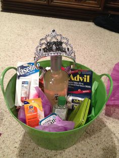 Im so doing this for Kennedy for her birthday!!  21st Birthday Survival kit! I want this for my birthday.