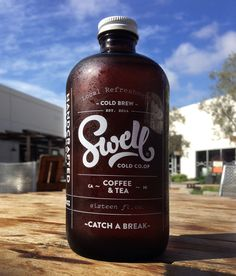 You can't go wrong with a clean growler design. Swell Cold Co.Op by Mark Caneso, via Behance