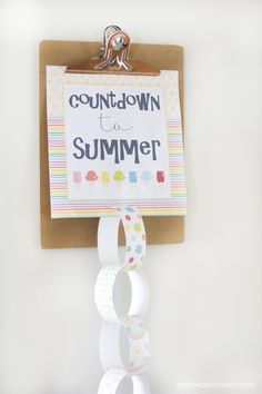 Countdown the last days of the school year with these printables! What a fun idea!
