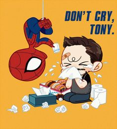iron-rion:  After i saw civil war,really want to give Tony a hug. Spider man who act by Tom is so cuuuuuuuuute!!!!