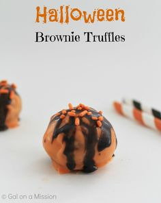 Halloween Brownie Truffles #Halloween #Chocolate #Desserts #Cute