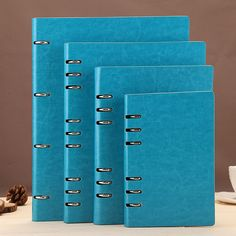 Leather Spiral Commercial Notebook 100 Sheets Stationery A5 B5 A6 Diary Planner Agenda Notepad Office School Supplies Gift