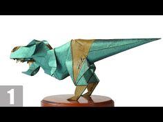 Part1/3 : How to fold Origami T-Rex 摺紙暴龍教學 (Kade Chan) [Transformers/Grimlock/變形金剛/鋼鎖] - YouTube