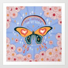 You Deserve To Be Happy Greeting Card by Asja Boros - Set of 3 Folded Cards x Collage Mural, Hippie Art, Folded Cards, Art Inspo, Spirituality, Art Prints, Canvas Prints, Wall Art, Wall Mural