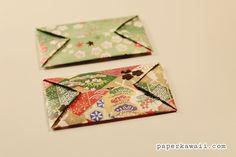 Learn how to make a quick and easy origami envelope! Simple step by step video tutorial. Great to put cards in and give with gifts!