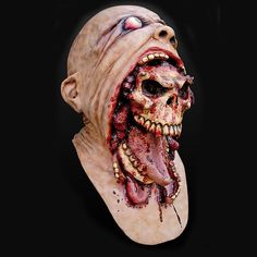 Horror Halloween Cosplay Latex Costume Bloody Zombie Mask Melting Full Face Walking Dead Scary Carnival Mardi Gras Party Masks