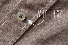 What's the Deal with the Colored Thread on the Bottom Button of Men's Shirts?