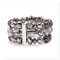 Nwt Pearl Grey Colored Stretch Bracelet