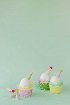DIY egg party hats