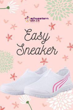 Frühlingsgefühle 🤩🌷Easy Sneaker. Die Sneaker für Pflegepersonal sind super bequem und ganz leicht. So kommst du problemlos durch den ganzen Tag. Gönne deinen Füssen etwas - Gehen wie auf Wolken. Nie wieder müde Füsse! Jetzt bei schwesternuhr.ch bestellen - Ohne Versandkosten. Schweizer Unternehmen.  #schwesternuhrch #schwesternschuhe  #sneaker #easysneaker #pflege Memory Foam, Super, Easy, Slip On, Sneakers, Comfortable Work Shoes, Sisters, News, Business