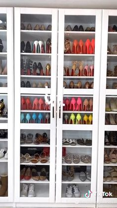 Walk In Closet Design, Bedroom Closet Design, Closet Designs, Shoe Shelf In Closet, Closet Storage, Shoe Closet Organization, Shoe Box Storage, Shoe Storage Solutions, Organization Ideas