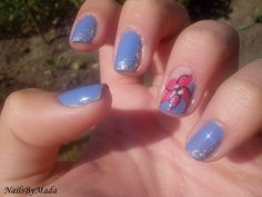 Flower Nails, Pink Flowers, Html, My Nails, Beauty, Beleza, Pink Blossom