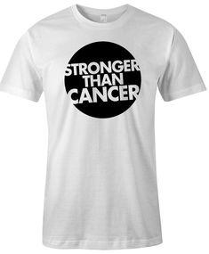 Unisex Cancer Survivor Unisex T Shirt  Stronger by HappyHeadTees