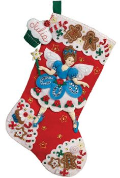 Fairy Sweets Bucilla Christmas Stocking Kit