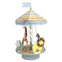 Das großes Karussell in mit den niedlichen Tieren und vielen süße Details ist eine ganz besondere Tischdekoration. Es ist sogar drehbar und damit wird es nach der Party gleich zum neuen Lieblingsspielzeug....