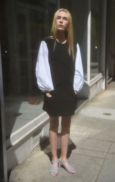 Anaïse | Hache Wool Shift Dress
