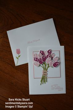 Beautiful Bouquet, Wedding Card