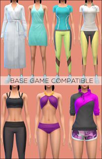 My Sims 4 Blog: Base Game Compatible Spa Day Clothing for Males & ...