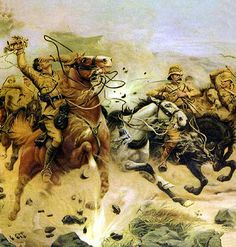 Attempting to save the guns at the Battle of Colenso on December 1899 in the Boer War