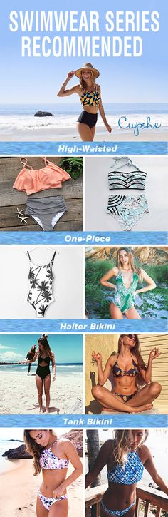 Swimwear Series Recommended~ Short shipping time! All styles we have are your faves: high-waisted, one-piece, halter&tank top swimwear. Must-have items for this season!