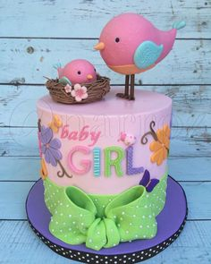 Birdie baby shower cake by Natasha