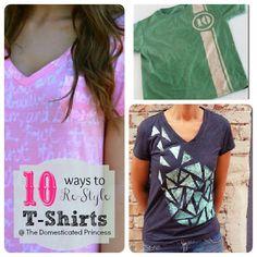 t shirt refashion tips & ideas with tutorials