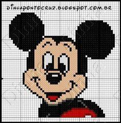 Mickey Mouse x-stitch Cross Stitch Baby, Cross Stitch Animals, Cross Stitch Kits, Cross Stitch Charts, Cross Stitch Patterns, Mickey Mouse Characters, Mickey Mouse And Friends, Mickey Minnie Mouse, Disney Stitch