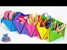 How to Make an Origami Accordion Box - Caja acordeon Diy Origami, Origami Ball, Origami Simple, Origami Modular, Geometric Origami, Origami And Kirigami, How To Make Origami, Useful Origami, Origami Tutorial