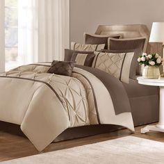 Ideas bedroom ideas brown bed comforter sets for 2019 Kohls Bedding Sets, Bed Comforter Sets, Brown Master Bedroom, Master Bedrooms, Dispositions Chambre, Bedroom Furniture, Bedroom Decor, Brown Furniture, Bedroom Ideas