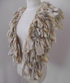Stunning!!!!!! Raggy Distressed Earthy Organic Recycled Sari Silk by plumfish, $85.00