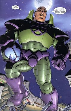 Lex Luthor of JLA Earth 2 by drawn by Frank Quitely. Character Profile, Comic Character, Marvel Dc, Dc Comics, Splash Page, Lex Luthor, New Gods, Comic Book Artists, Just In Case