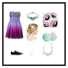 """If we're rushing into certain death , might as well wear something comfortable to run in"" by stray-arrow on Polyvore featuring Hailey Logan, Converse, Eos and Bernard Delettrez"