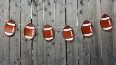 Football Garland, Football Banner, Sports Banner, Sports Garland, Sports Party Banner, Sports Theme Garland, Football by CraftyCue on Etsy