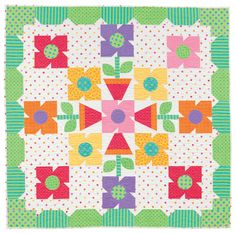 Spring Loaded Pattern Throws Spring Quilts Quilts and Small Quilt Projects, Quilting Projects, Quilting Designs, Sewing Projects, Quilting Ideas, American Patchwork And Quilting, Patchwork Quilt Patterns, Applique Quilts, Cute Quilts