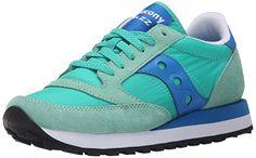 Sneaker Saucony Jazz in suede e nylon verde Tiffany e azzurro, Türkis (Lt Green/Blue), 40.5 EU - http://on-line-kaufen.de/saucony/40-5-eu-sneaker-saucony-jazz-in-suede-e-nylon-verde-e