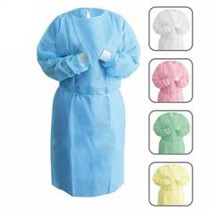 Dental Medical Latex-Free Disposable Isolation Gowns Knit Cuff Non Woven Staff Uniforms, Medical Uniforms, Doctor Scrubs, Permanent Makeup Eyebrows, Corporate Wear, Lab Coats, Hotel Uniform, Uniform Dress, Latex Free