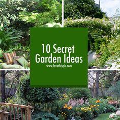 Secret garden ideas to inspire your home garden.