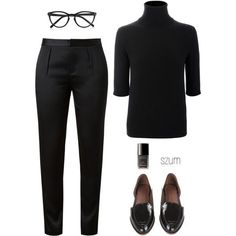 A fashion look from October 2013 featuring pullover sweater, tapered pants and rachel comey shoes. Browse and shop related looks. Mode Outfits, Casual Outfits, Fashion Outfits, Womens Fashion, Fashion Trends, Office Fashion, Work Fashion, Mode Style, Style Me